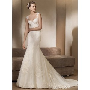 2012-v-neck-appliqued-satin-net-wedding-gown
